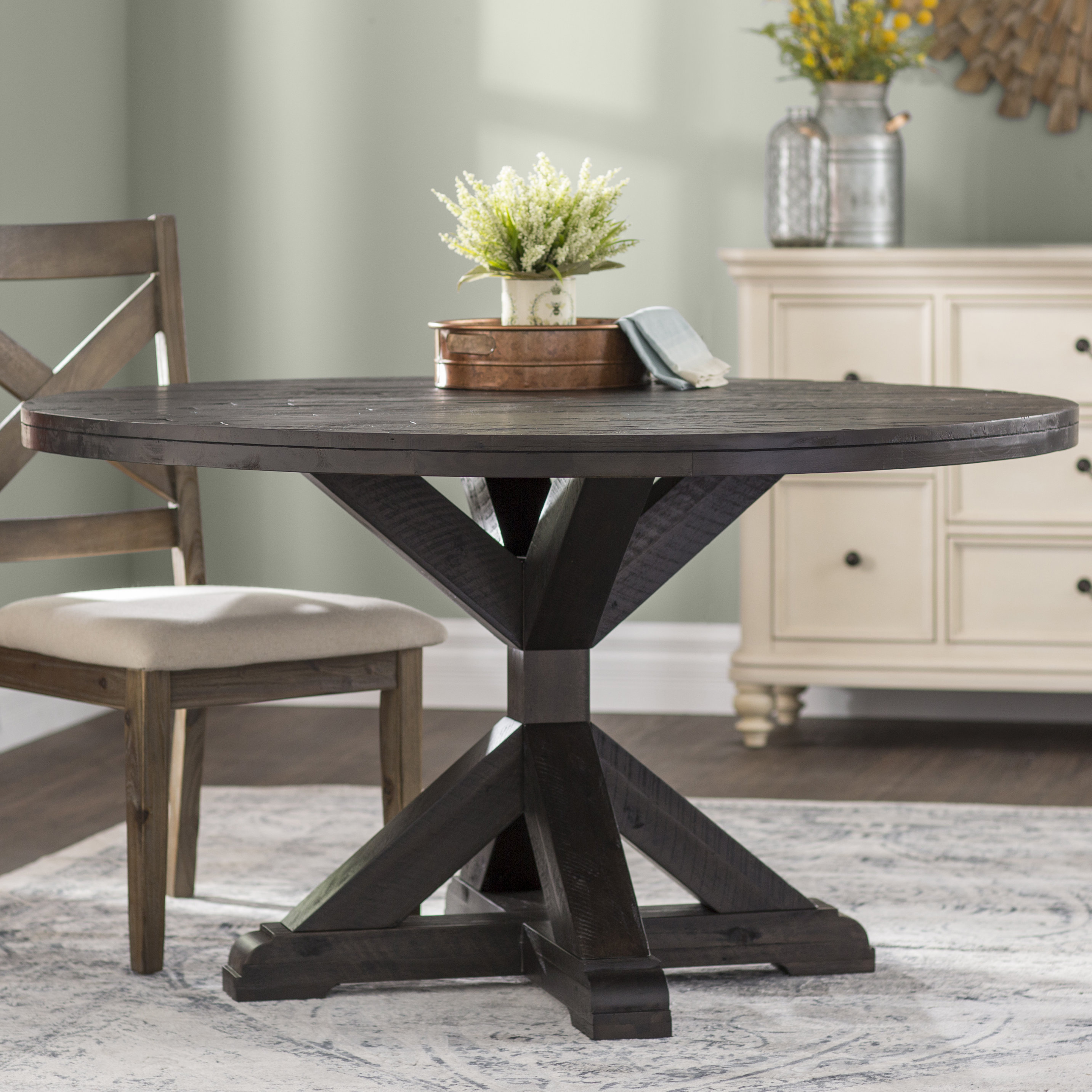 laurel foundry modern farmhouse colborne dining table reviews round accent skirts side coffee glass set farm style end tables cool room chairs iron base wool rugs rustic cocktail