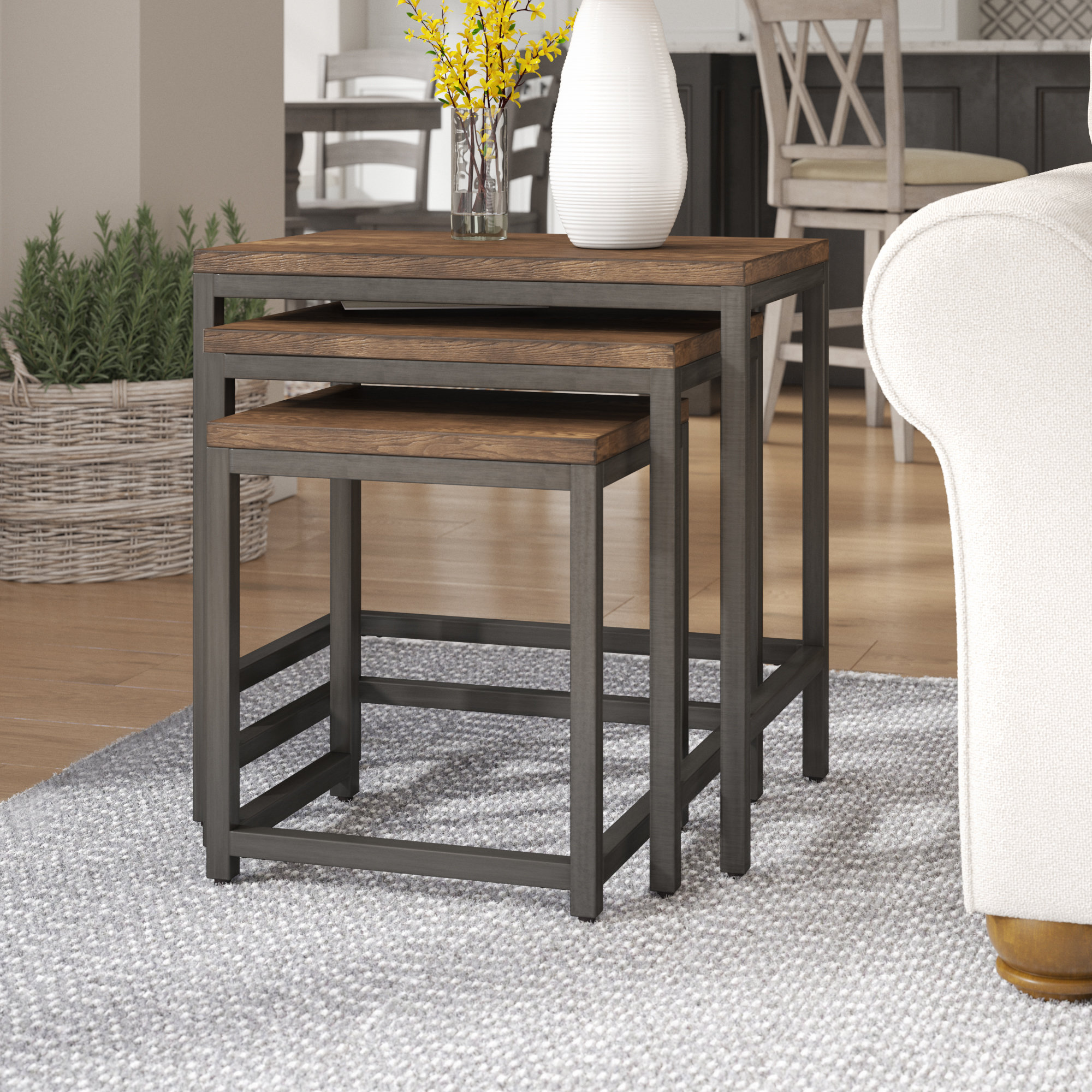 laurel foundry modern farmhouse ekalaka piece nesting tables room essentials stacking accent table reviews small folding patio large dining chairs metal garden battery operated