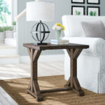 laurel foundry modern farmhouse mcwhorter trestle end table room essentials accent reviews black folding patio side outdoor daybed coastal living lamps small occasional high 150x150