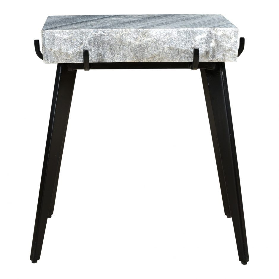 lauren accent table dark grey slab marble black iron legs narrow side ikea file box canvas patio furniture covers wingback chair brass coffee headboard with lights desk