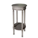 laurette round accent table grey tables chairs res copper coffee canadian tire patio furniture sets stand bar threshold parquet hammered metal top slate drum seat throne real wood 150x150