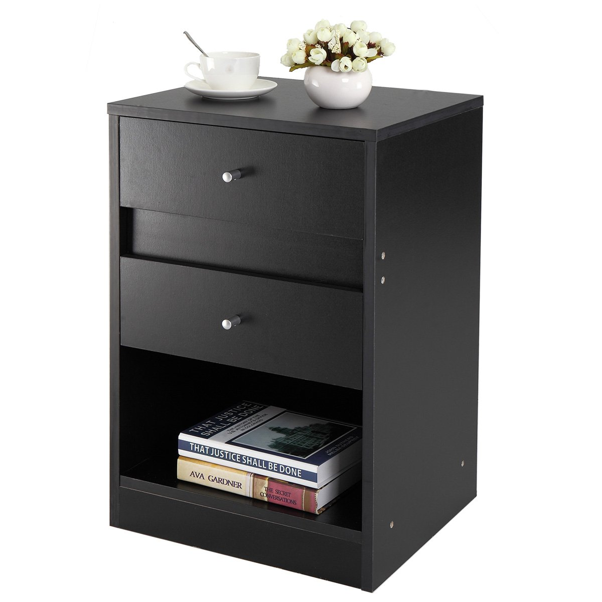 lazymoon nightstand end table bedroom furniture bedside winsome ava accent with drawer black finish cabinet shelf kitchen dining acrylic coffee ikea white garden sets carpet