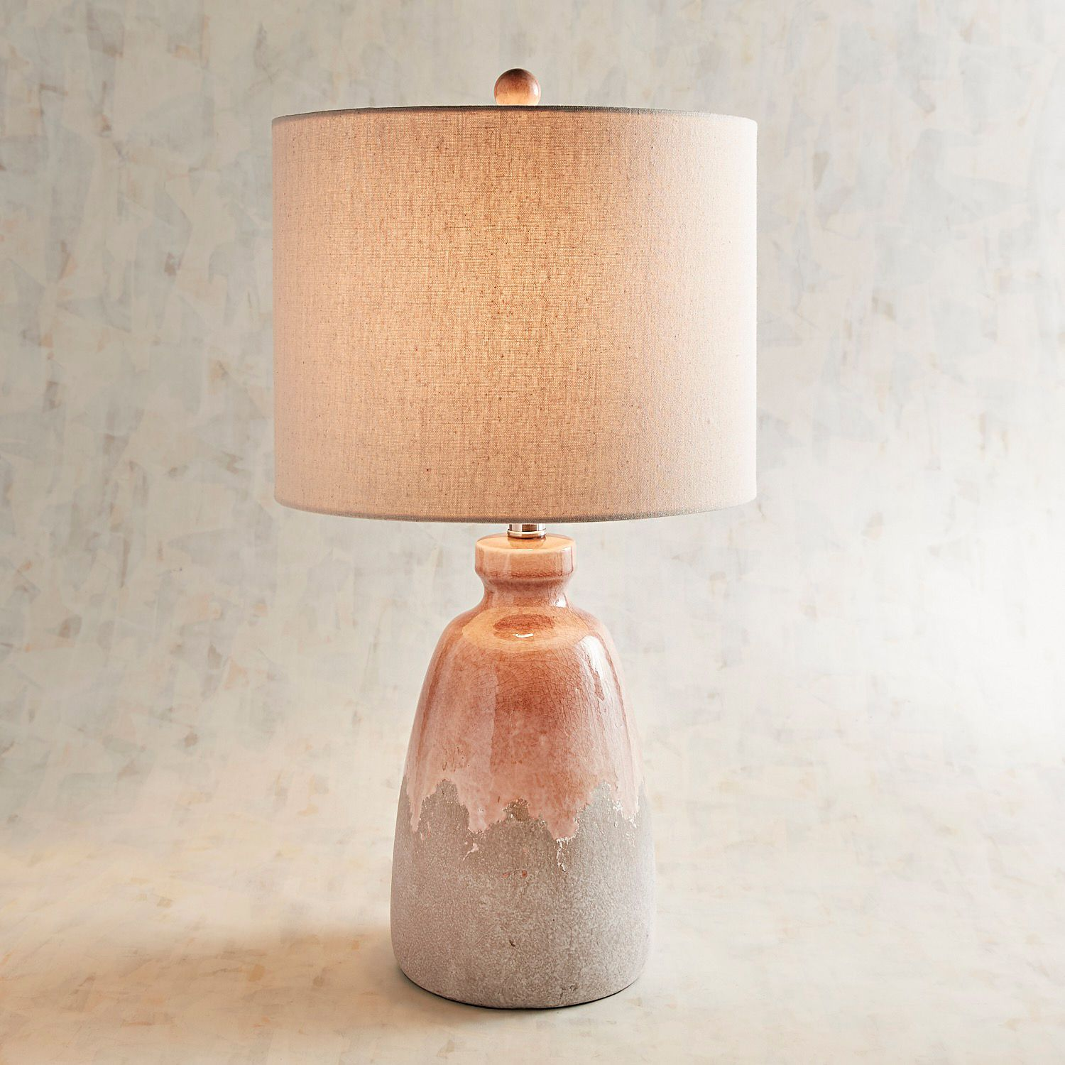 lea blush ceramic table lamp pier imports one accent lamps farm white legs metal coffee with drawers that use batteries cordless for living room ikea small square glass dale