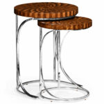 leather pouf the fantastic nice inlaid wood end tables nesting zebrano side table zebra limited production design tall marquetry hospitality residential interior designer 150x150