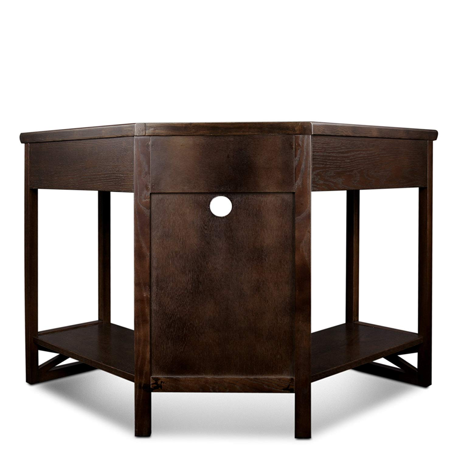 leick corner computer and writing desk chocolate oak end table finish kitchen dining side lamps for living room small white nightstand outdoor coffee with storage sears furniture