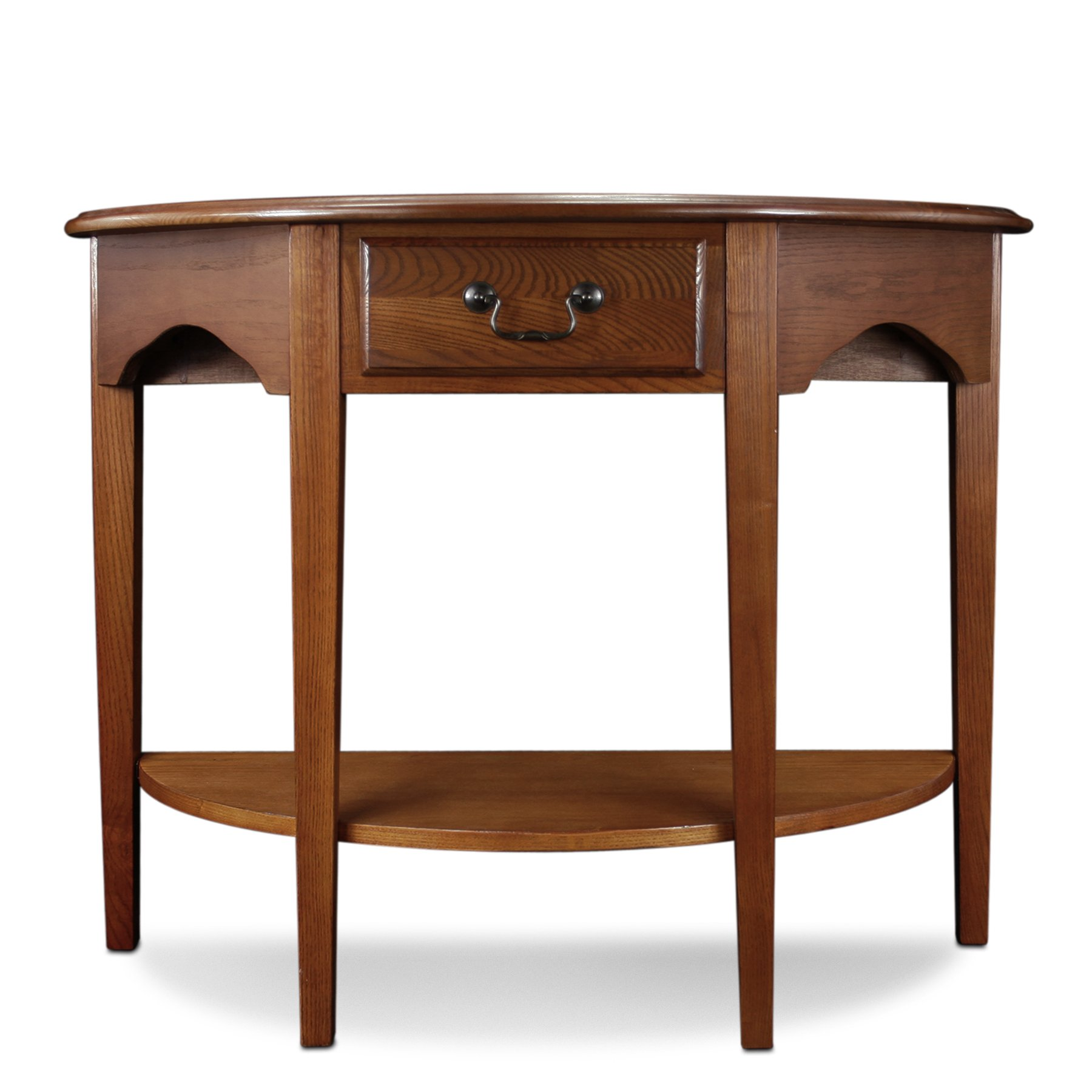 leick demilune hall console table medium oak kitchen corner accent dining west elm room sage green pottery barn sofa hallway chest drawers lucite furniture target changing mini