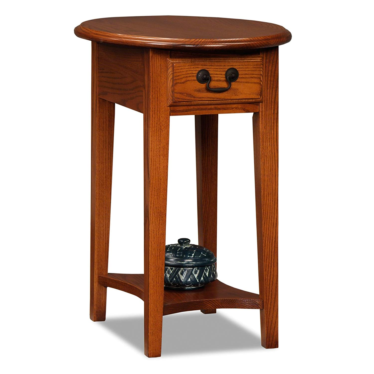 leick oval end table medium oak kitchen dining accent solid tables slim telephone red metal outdoor side brown resin wicker bathroom wall clock vintage legs bedside build your own