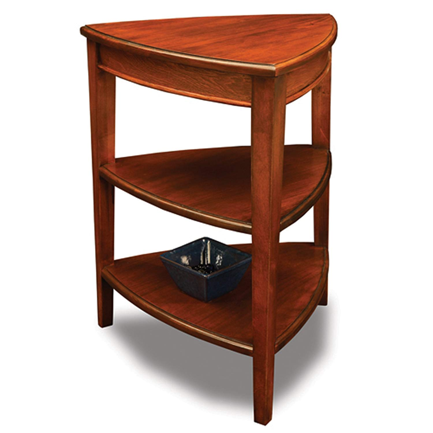 leick shield tier corner accent table kitchen dining shelf wood grundtal dressing vegetable storage rack ikea bookshelves unit shaped wall vintage shelves billy bookcase computer