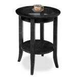 leick slate glass top round side table prod accent marble lamp console behind sofa knobs red lamps for bedroom chairs with metal outdoor bayside furniture cooler drinks next 150x150