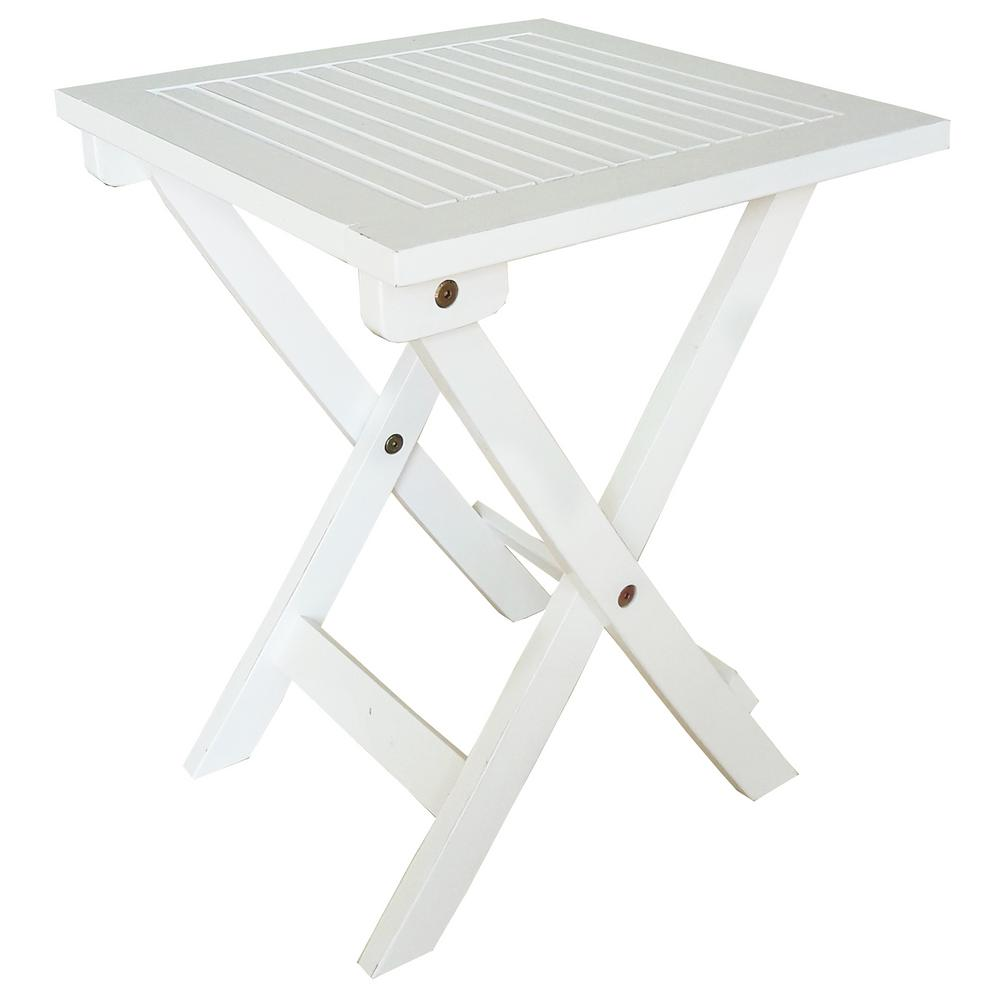 leigh country white wood outdoor side table folding adirondack tables plastic marble top end target dining room sets ikea legs small nautical garden bench covers extra large round