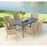lemon grove piece wicker outdoor dining set with spring haven umbrella accent table surplus cushion garden inexpensive lamps sei mirage mirrored brass drum supplies and glass nest 150x150