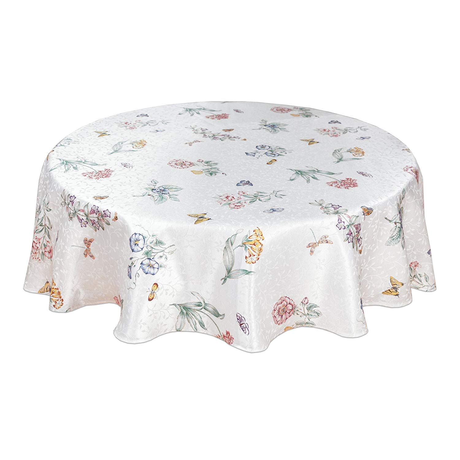 lenox butterfly meadow inch round tablecloth home accent kitchen farmhouse door small porch table battery standard lamp hutch designer end tables unwanted furniture very narrow