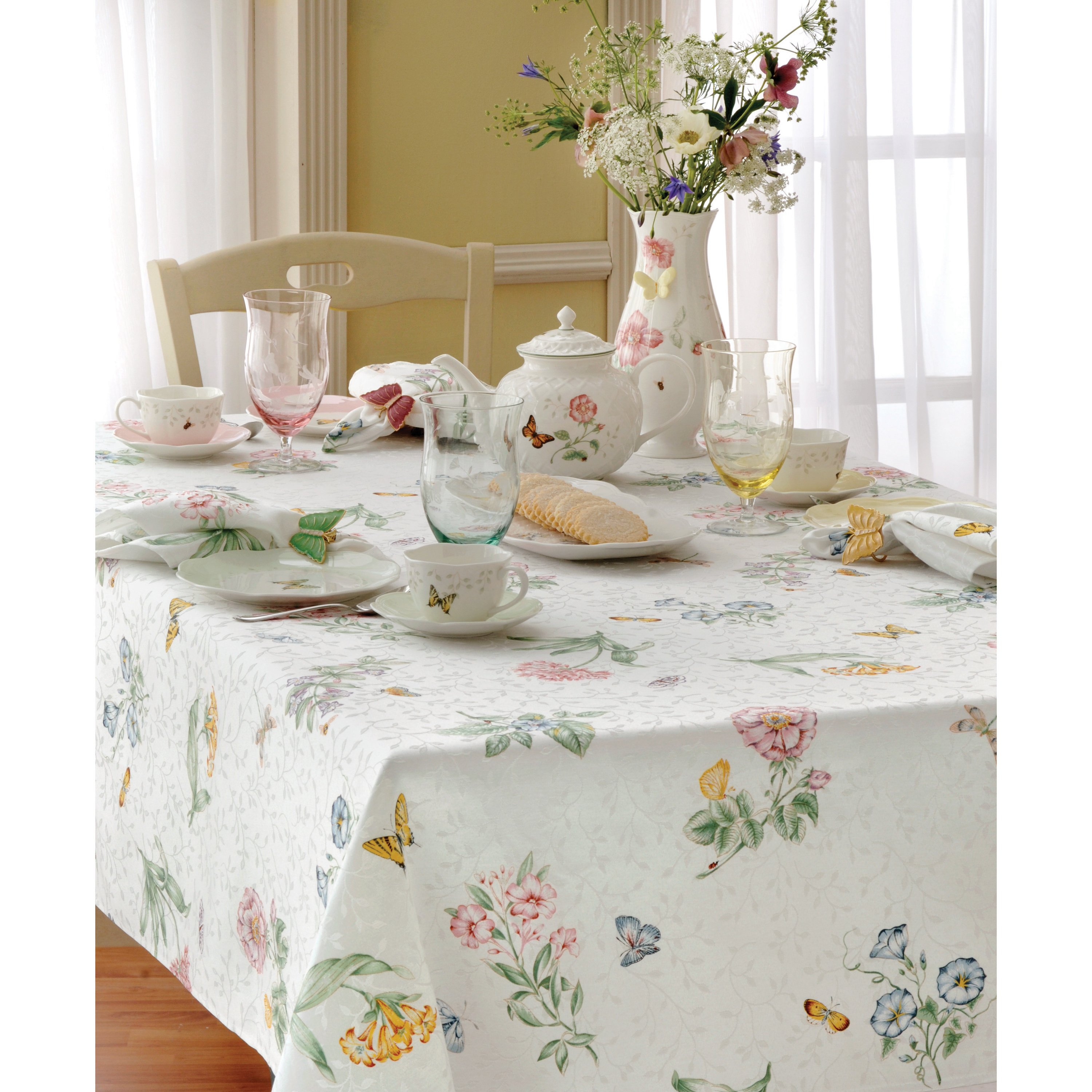 lenox butterfly meadow table cloth free shipping accent orders over end tables and lamps grey tufted chair small one drawer teak root coffee clear bedside patio seating antique