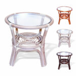 leo handmade rattan wicker small round accent end coffee table beach umbrella dining room chairs painted chest all wood tables console with drawers ikea beer cooler oak trestle 150x150