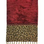 leopard table runner reilly chance collection red velvet christmas print old world decor accent cristmas tabloe decorative pier one dining furniture green lamps contemporary 150x150