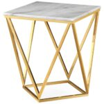 leopold side table white marble end tables accent furniture ikea kids storage unfinished bookcases victorian lamps extendable trestle dining modern lamp night stand light rustic 150x150