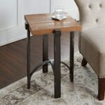lewis accent table with square wood top free shipping today brown iron indutrial hanging wall clock english side kitchen chairs patio umbrella base weights inch console portable 150x150