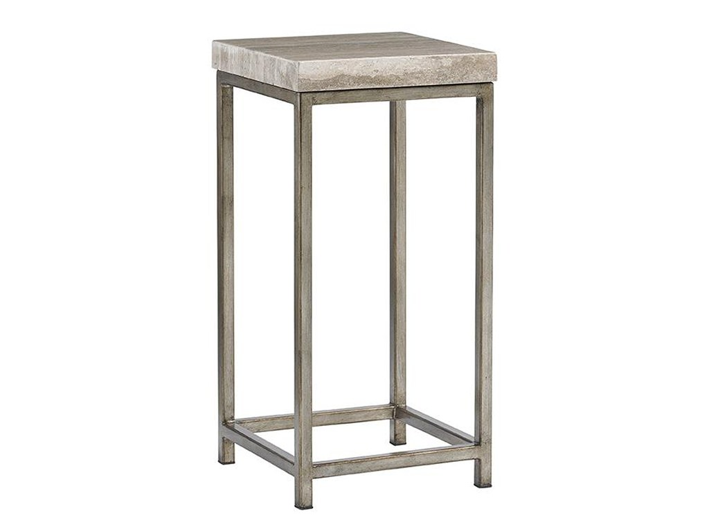 lexington laurel canyon ashcroft accent table with silver travertine products color threshold hexagon canyonashcroft red oval tablecloth pine wrought iron coffee glass top white