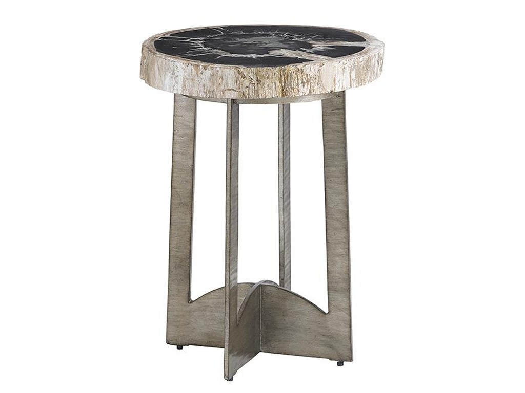 lexington laurel canyon cross creek petrified wood table products color silver pedestal accent canyoncross glass top lamp modern black end lucite acrylic coffee nate berkus bath