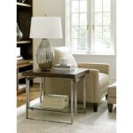 lexington macarthur park granville end table with floating glass products color accent meaning parkgranville umbrella coffee whole tablecloths pottery barn tanner tall kitchen 150x150