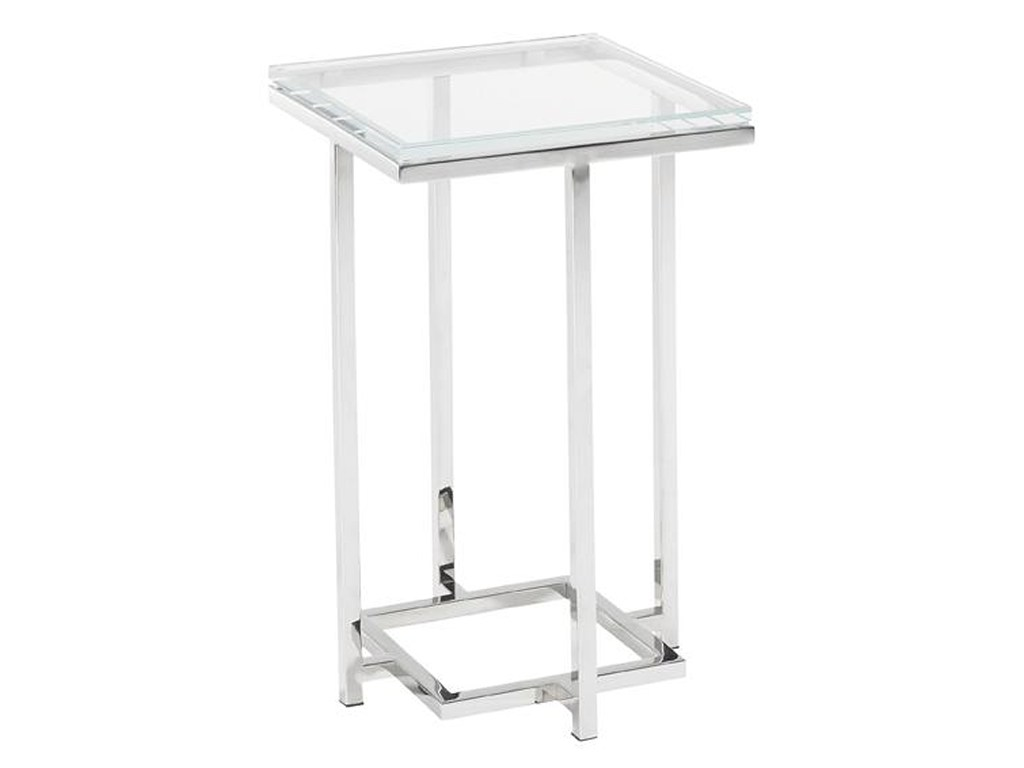 lexington mirage stanwyck glass top accent table belfort furniture products home brands color metal with miragestanwyck christmas runner patterns chairs calgary tall white small