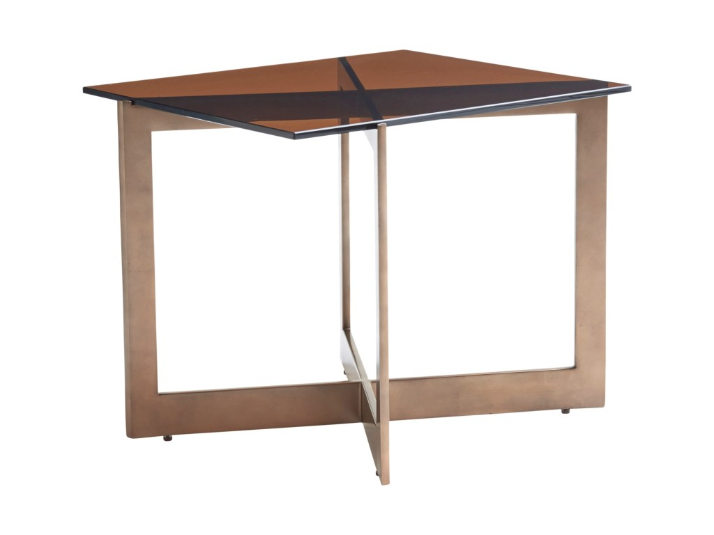 lexington zavala apeture end table with amber tinted glass top products color threshold hexagon accent zavalaapeture metal coffee rattan side outdoor heavy duty umbrella base