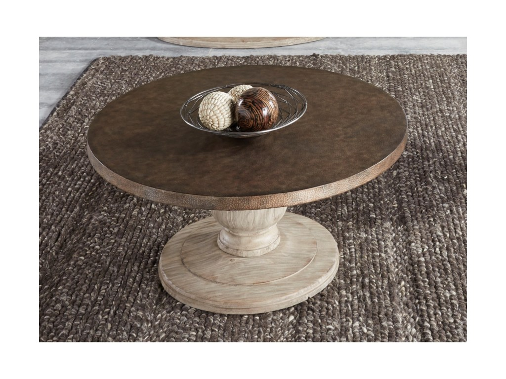 liberty furniture alamosa relaxed vintage round cocktail table with products color hammered metal accent alamosaalamosa rugs ikea white garden coffee rustic wood and end tables