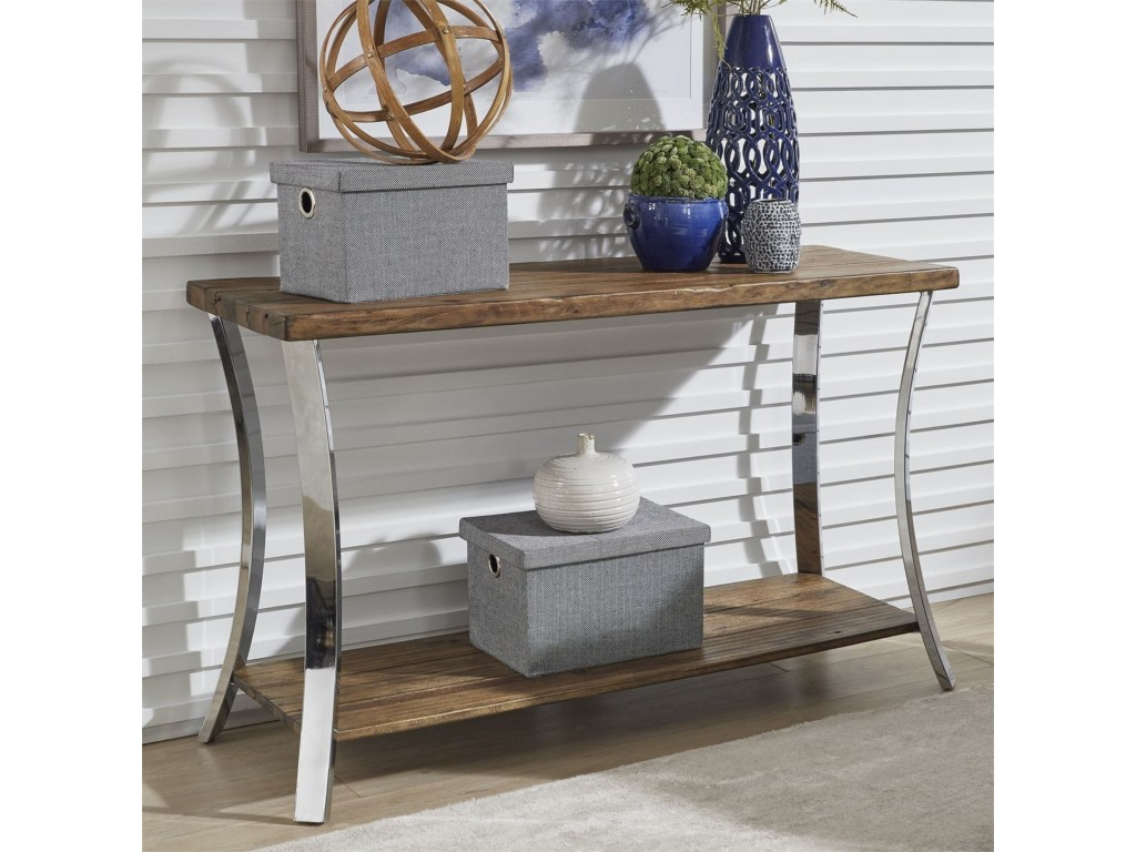 liberty furniture contemporary sofa table with reclaimed wood products color pembrook threshold metal accent top outdoor bench seats bunnings glass cube side extra tall console