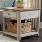 liberty furniture farmhouse reimagined relaxed vintage products color accent tables with charging station drawer end table basket hudson long nightstand top french bedside pub bar 150x150