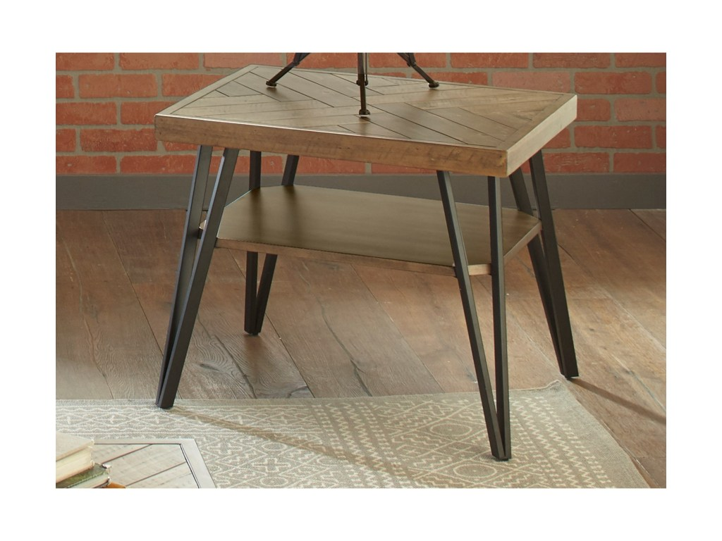liberty furniture horizons contemporary end table with open shelf products color threshold parquet accent horizonsend solid brass coffee kitchen counter bedside lamps kmart