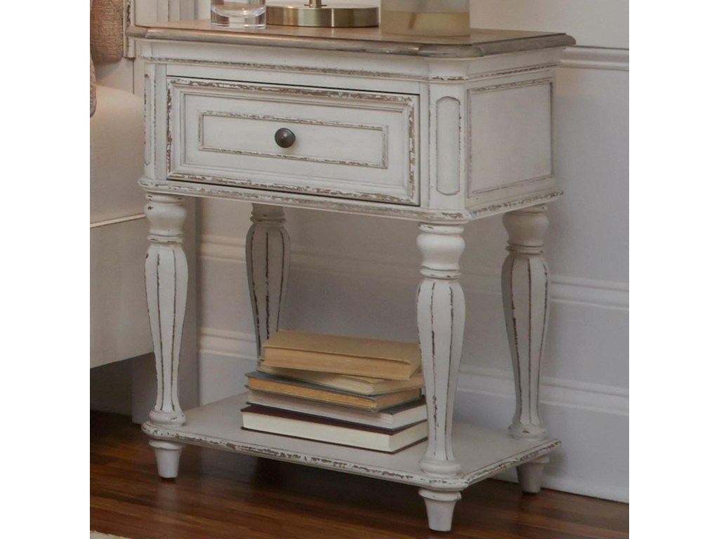 liberty furniture magnolia manor one drawer nightstand with storage products color wood accent table threshold shelf natural coffee rubber carpet edging trim wicker outdoor