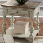 liberty furniture morgan creek relaxed vintage end table with bottom products color round accent storage shelf rod iron patio marble dining room console large white tablecloths 150x150