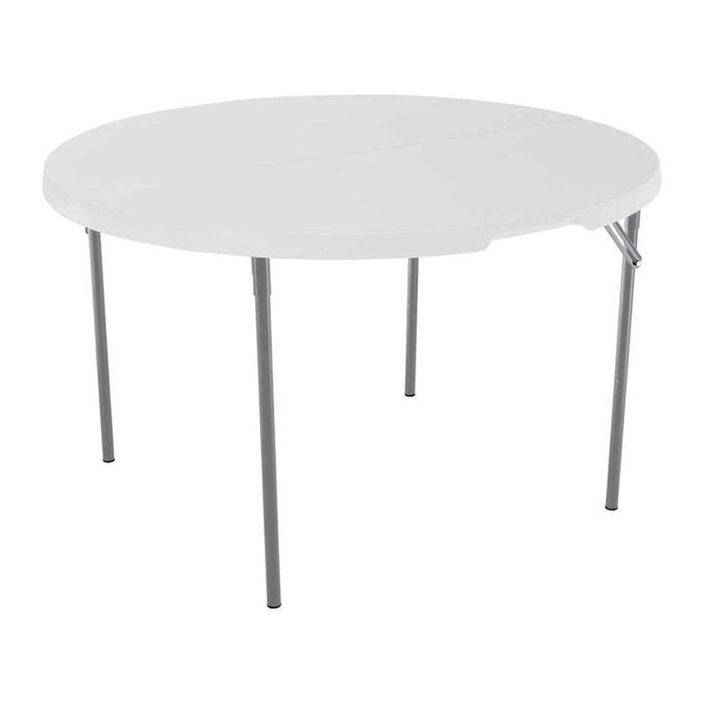 lifetime white granite round fold half table the folding tables chairs outdoor side canadian tire cool lamps grey gloss nest metal circle black mirror end harveys bedroom