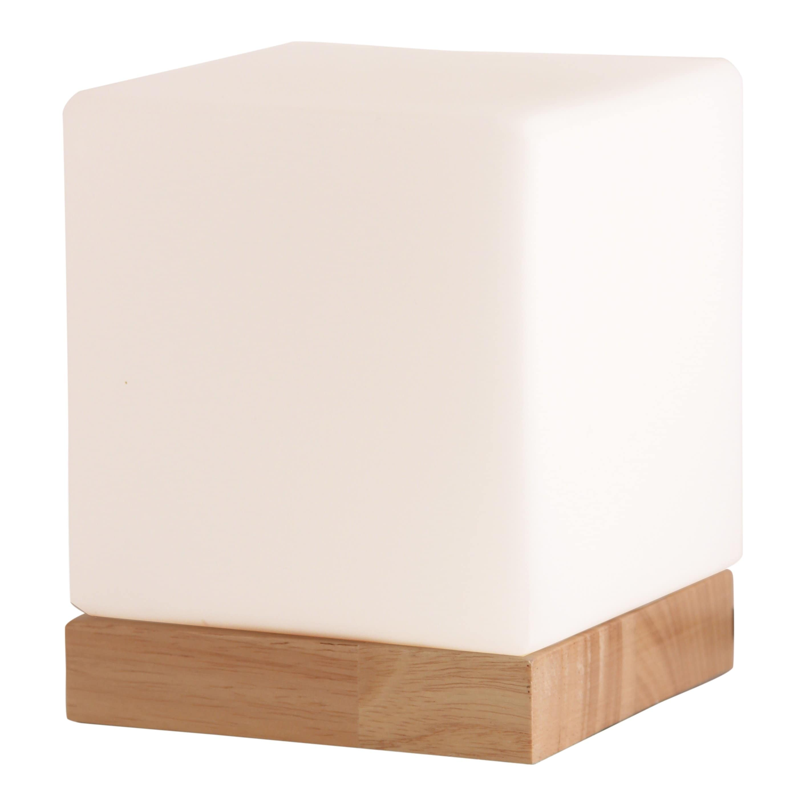 light accents small table lamp cube accent glass shade with natural wooden base lamps round drum side pacific cool bar mosaic kitchen modern furniture design ese fine linens gold