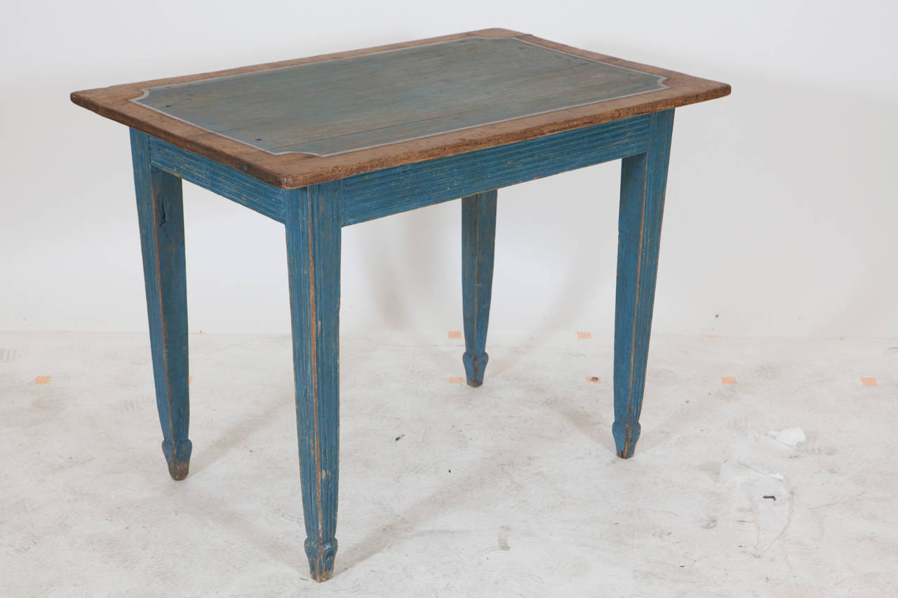 light blue painted gustavian side table cote jardin accent small and natural wood from century outside patio furniture large round linen tablecloths target clearance mango chest