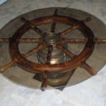 lighted ships helms wheel nautical coffee accent table wood brass glass dining room light fixture inch wide nightstand antique lamps ott legs slim side baroque plus tables low 150x150