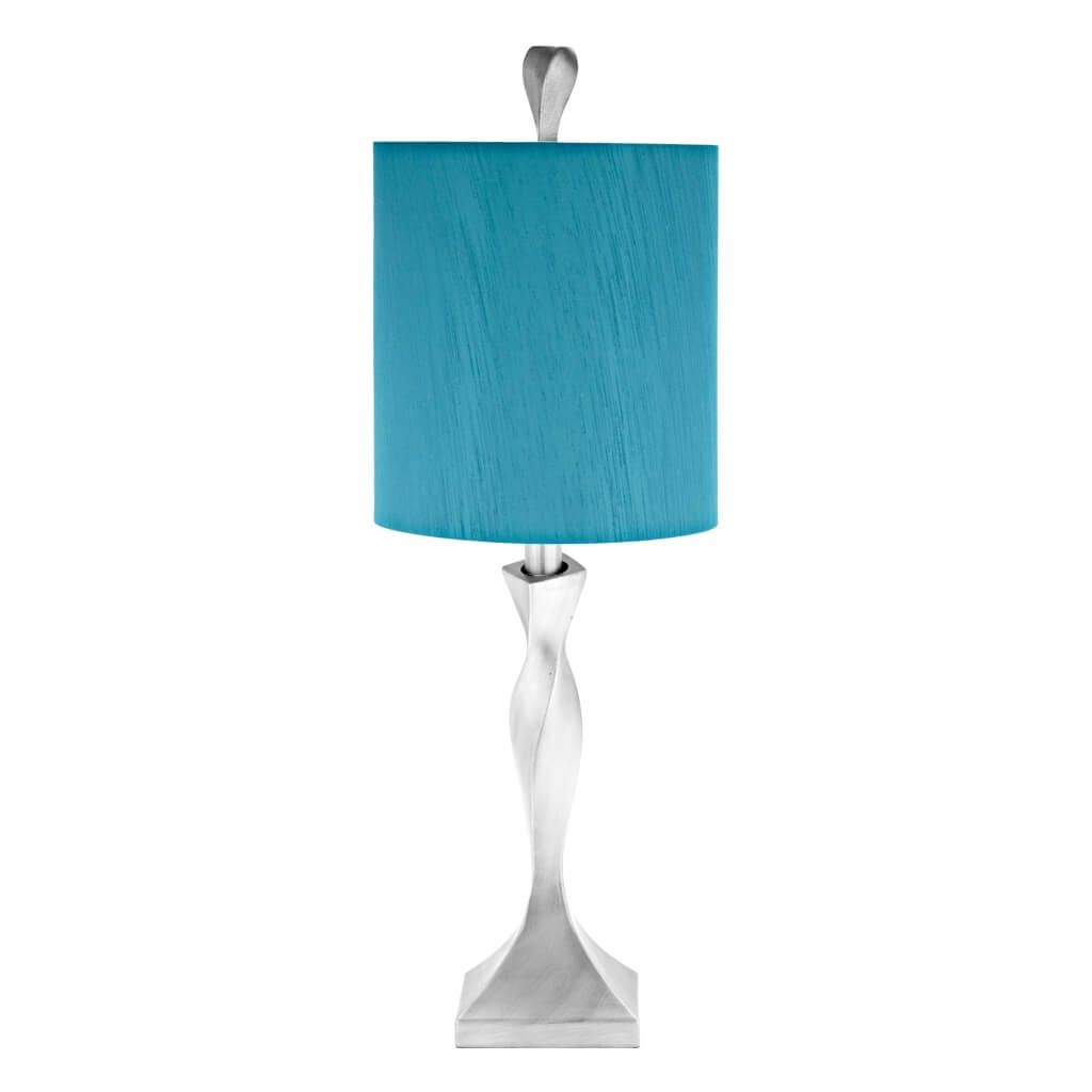 lighting beautiful blue small table lamp design with spiral metal base oak lamps tiny accent wedding centerpiece ideas ashley outdoor furniture black legs pier imports dining kids