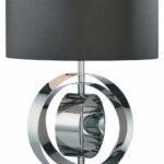 lighting decorative mini contemporary table lamp with unique metal stunning dark grey drum polished chrome circular base buffet lamps accent design and tall white square glass 150x150