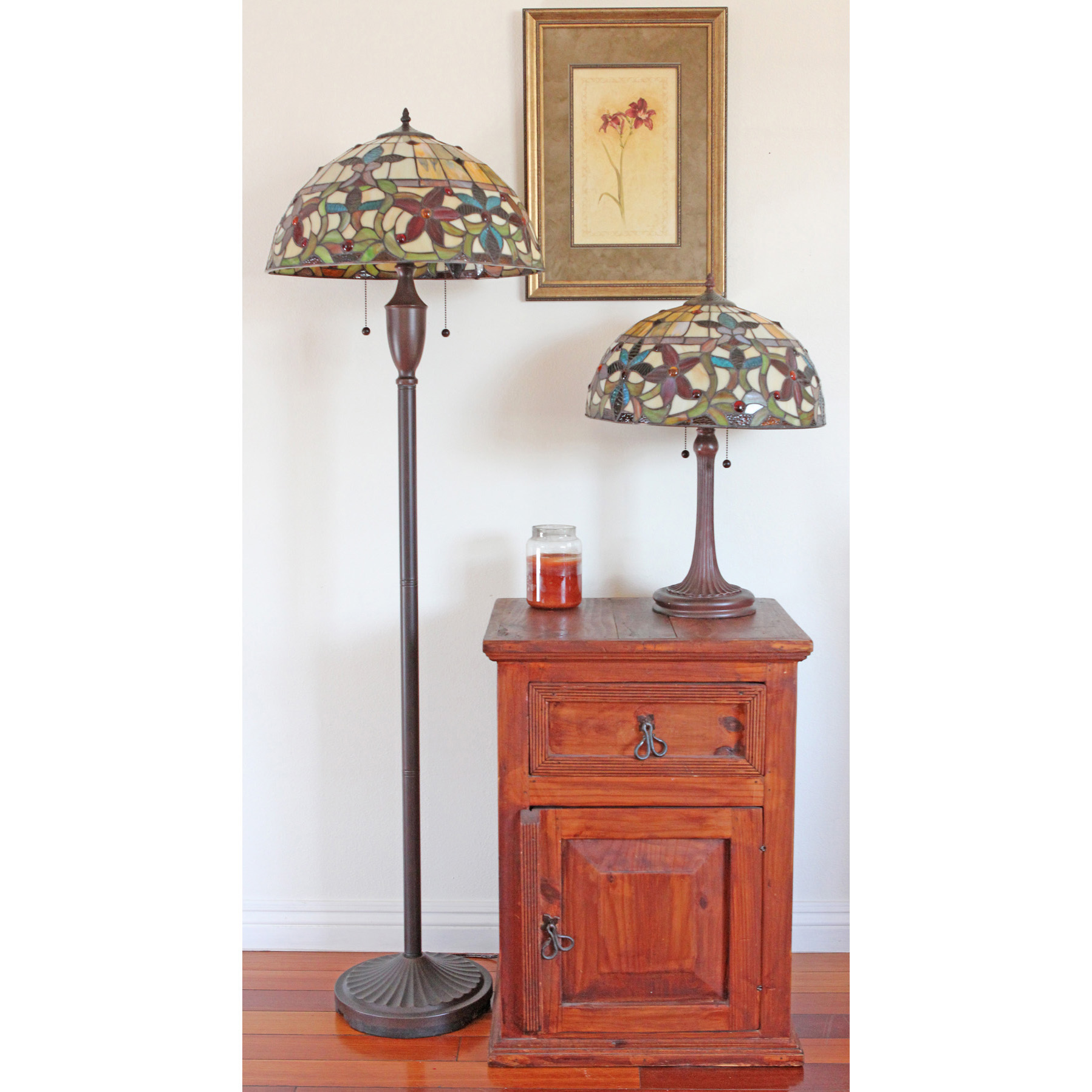 lighting ideas antique tiffany style floor lamps near small wooden table also tiny lamp under framed painting varnished hadwood flooring accent coffee kijiji tall metal wrought