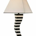 lighting magnificent white and black stack combination contemporary table lamps square base metal blown glass accent dining room sets chairs round mirrored end wicker outdoor 150x150