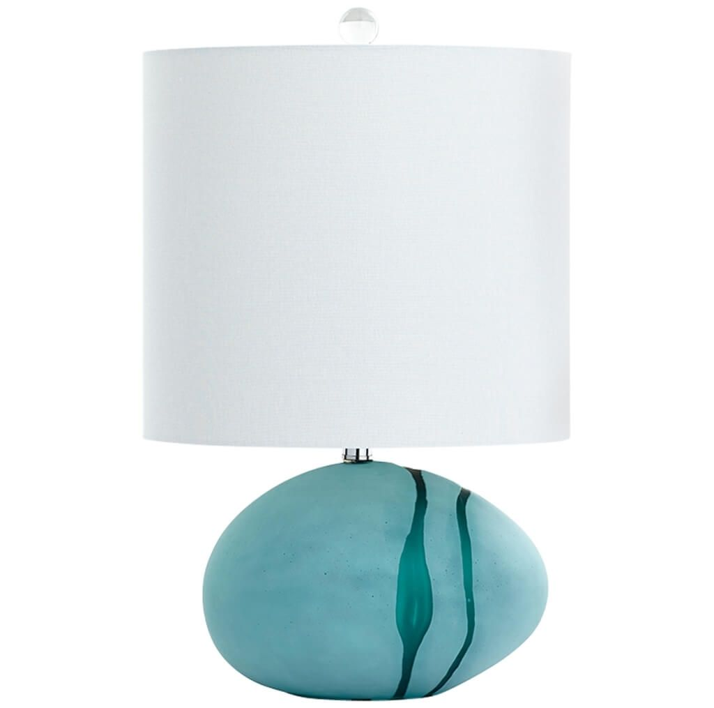 lighting nifty small table lamps cyan color stone base and cylinder top end unique tiny accent teal velvet chair shabby chic sofa pottery barn bean bag liner telephone furniture