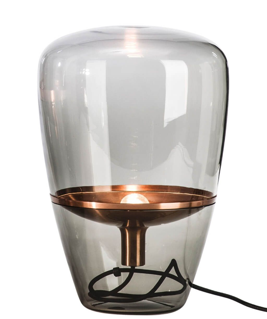 lighting rustic clear glass small table lamp design with inner floating copper fitting top lamps accent screen porch furniture end built pottery barn farmhouse bedside patterned
