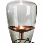 lighting rustic clear glass small table lamp design with inner floating copper fitting top lamps decorative accent sliding barn door wood metal coffee pearl drum stool legs teak 150x150