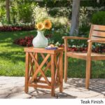 lily outdoor wood acacia accent table christopher knight home free shipping today mosaic garden side pier one clearance ikea small storage leather chairs with arms pie shaped end 150x150