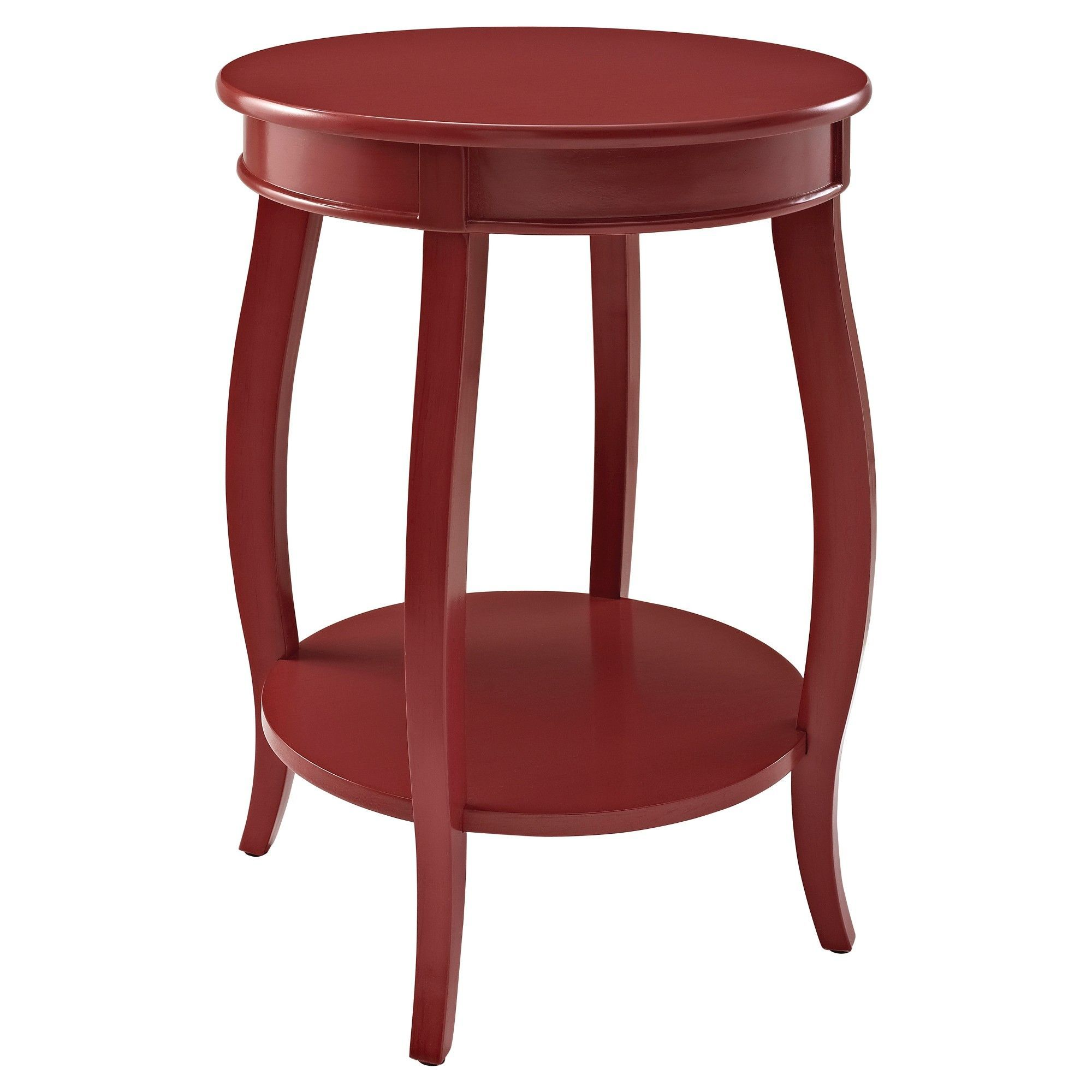 lindsay round table with shelf red oak grove collection accent purple side iron coffee legs drinks cooler small trestle jcpenney tablecloths inch end glass top tables egg chair