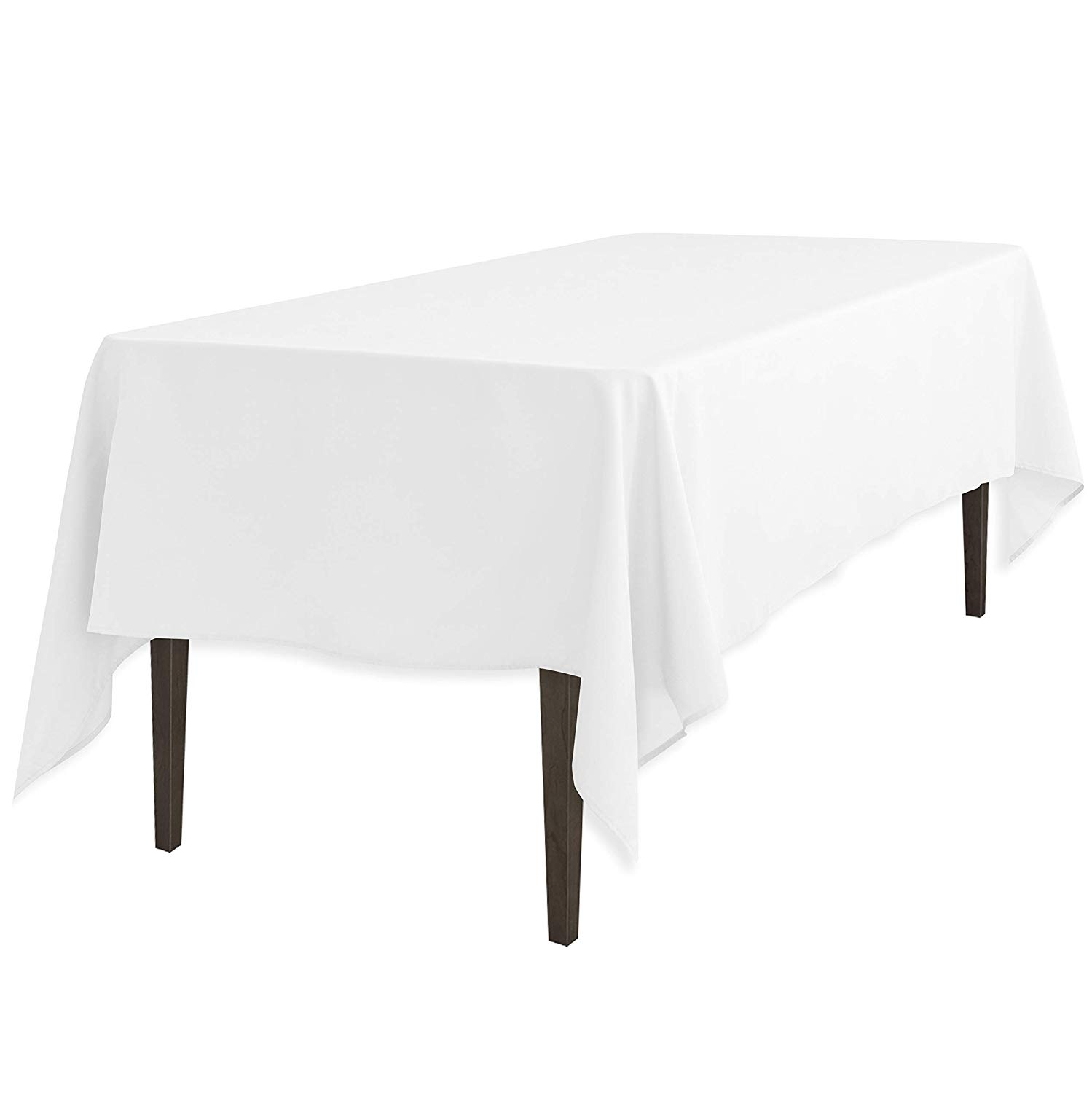 linentablecloth inch rectangular polyester round accent tablecloth white home kitchen metal top end table pier one imports and chairs hairpin legs small outdoor teak side glass