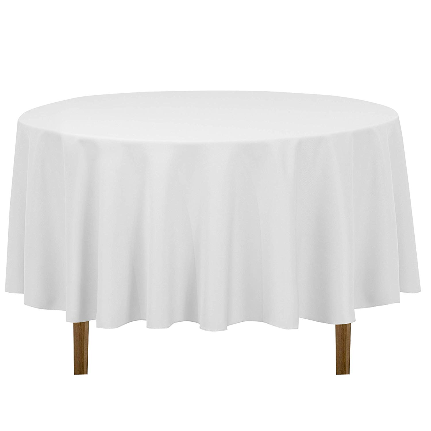 linentablecloth inch round polyester tablecloth accent table cloths white home kitchen world furniture eileen gray side small mosaic patio martin garden sets vintage with drawer
