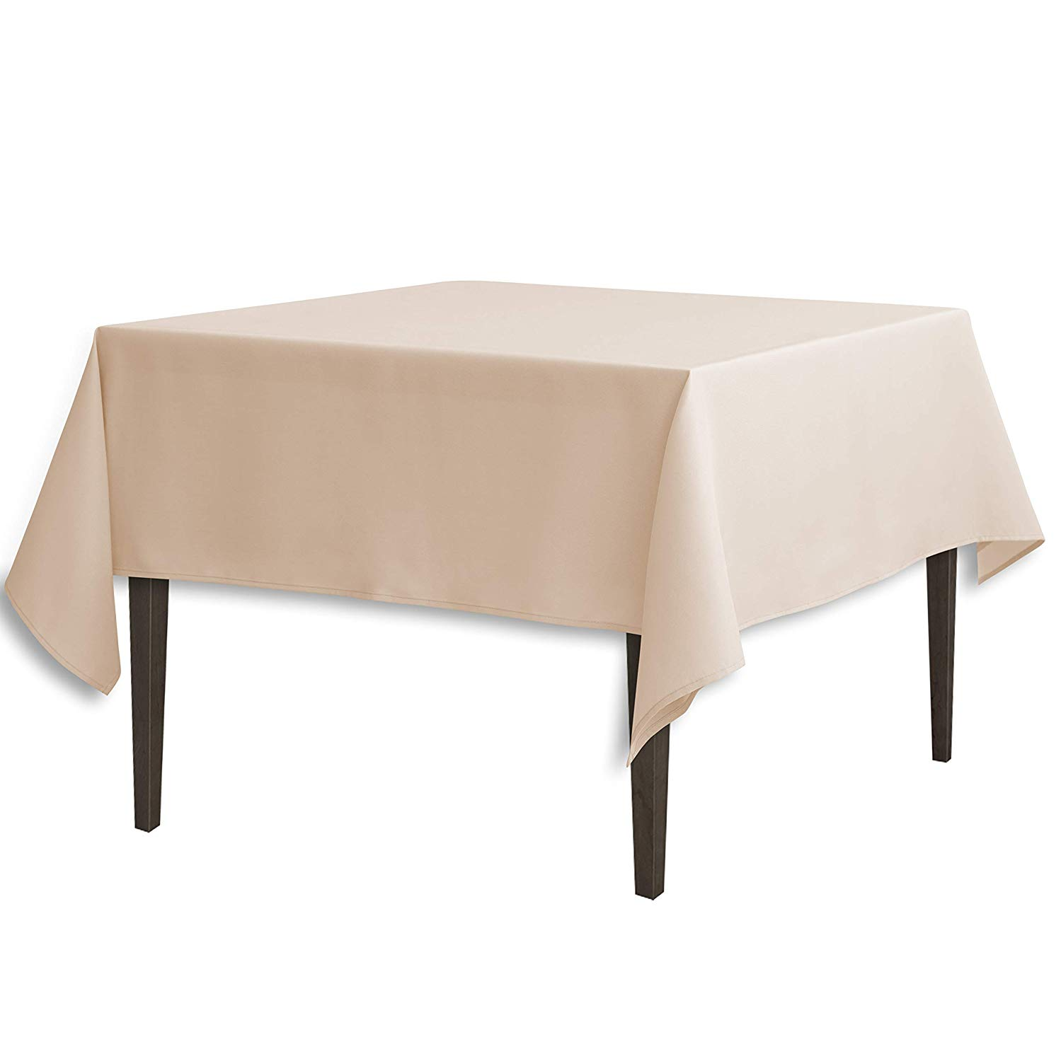 linentablecloth inch square polyester tablecloth round accent beige home kitchen west elm outdoor furniture bedroom side drawers market patio umbrella purple clearance lawn solid