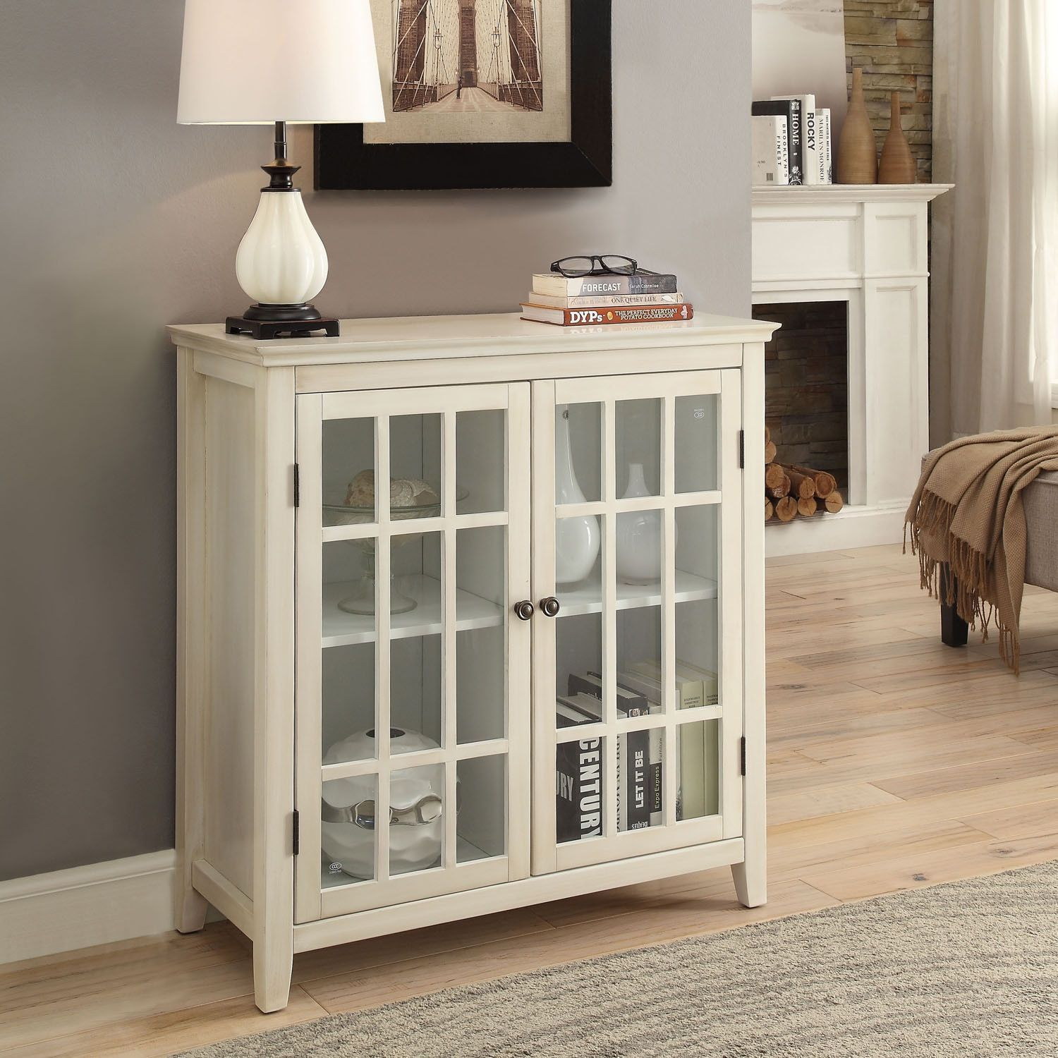 linon galway cabinet white glass doors accent table navy end christmas tablecloth and runner rattan nightstand tables bar stools nautical track lighting chestnut style lamps