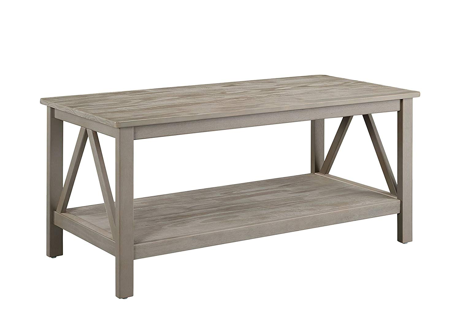 linon titian industrial gray coffee table grey wood accent kitchen dining pottery barn night tables outdoor seat covers patio conversation sets clearance trestle old door ideas